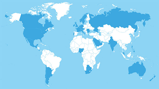 World Map - Projections